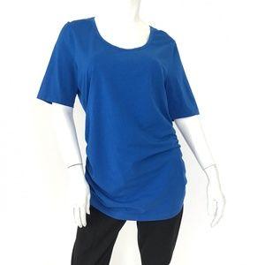 ESCADA SPORT cotton short sleeve ruched top sz XL
